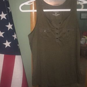 Tops - Olive green XS  tank dropped price!